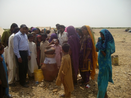 Safe drinking Nadi filter installed for IDPs