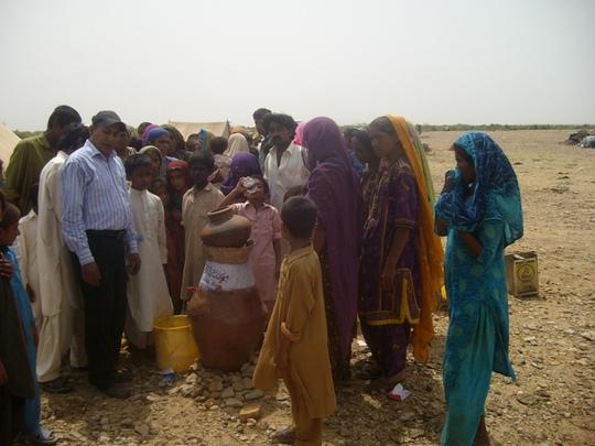 Safe drinking Nadi filter installed for IDPs