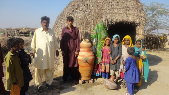 Village Tharri near Matli family have clean water