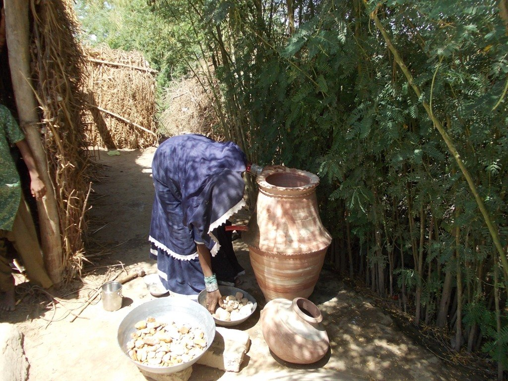 Women Preparing Nadi filter at her home