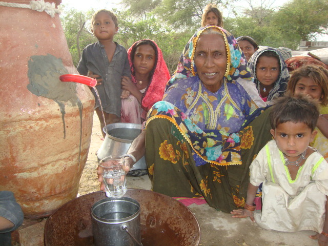 Women happy to have safe drinking water