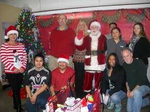 Staff enjoy Santas visit too!!!