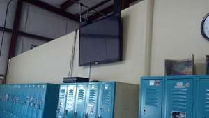 New wall mount TVW in client lunchroom