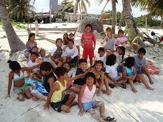 Mexico, kids, Punta Allen