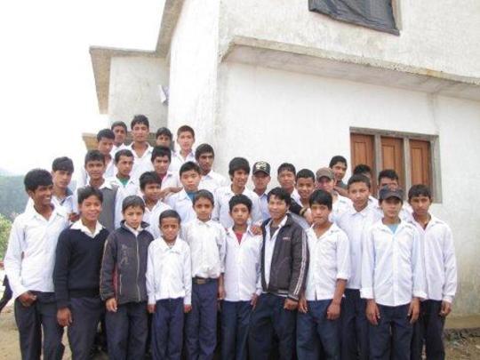Boys at Gaurishankar Hostel