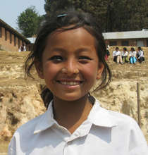 A village girl who goes to school thanks to NYF
