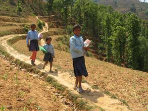 Walking Miles & Miles to School