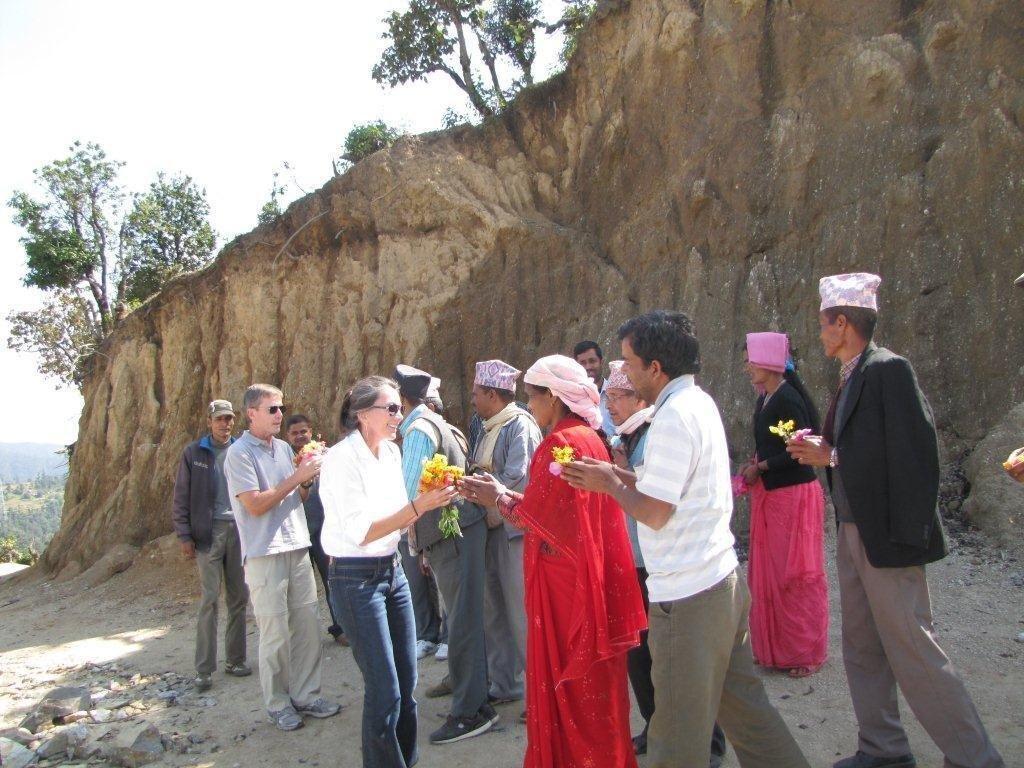 Villagers welcome NYF to Gaurishankar School