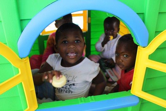 Children enjoying the play area