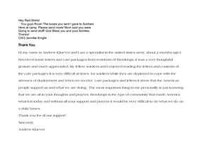Letter from Andrew Kluever (PDF)