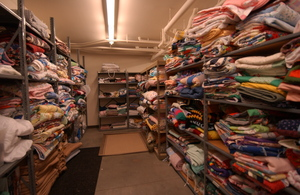 100s of blankets are distributed/recycled daily