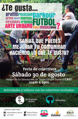 The poster call for the event in Santa Ursula