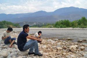 Looking ahead in the river Cuicatlan