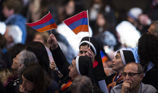 Armenian Flags at the Pope