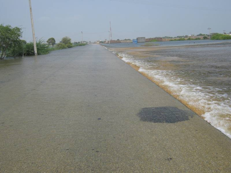 After 14 days still floods present in area