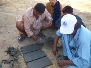 Bricks prepared for cooking stove construction
