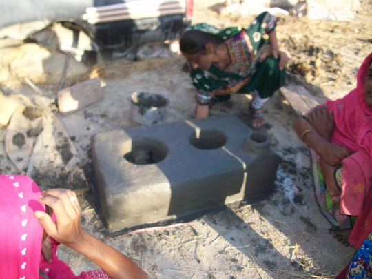 New cooking stove is in progress in jati area