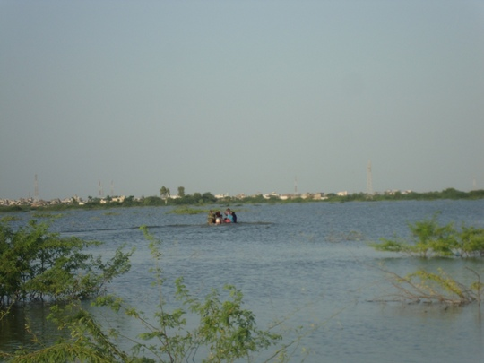 Navey marines Boat searching people from flooded