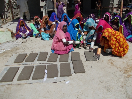 12 bricks for one cooking stove