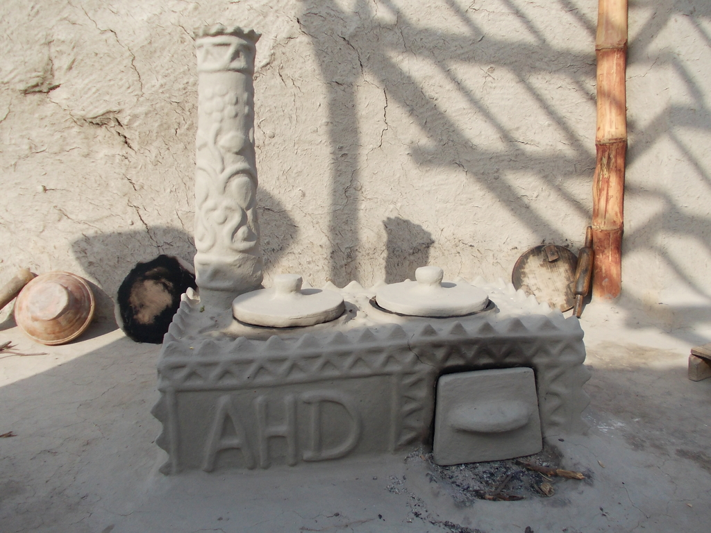 Model AHD FES cooking stove constructed by women