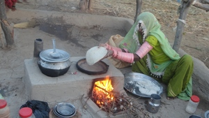 Chapati (bread) making by Mrs. Chettam Kumari
