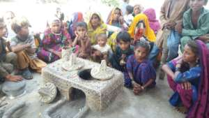 Children & Women  happy with AHD Model cooking sto