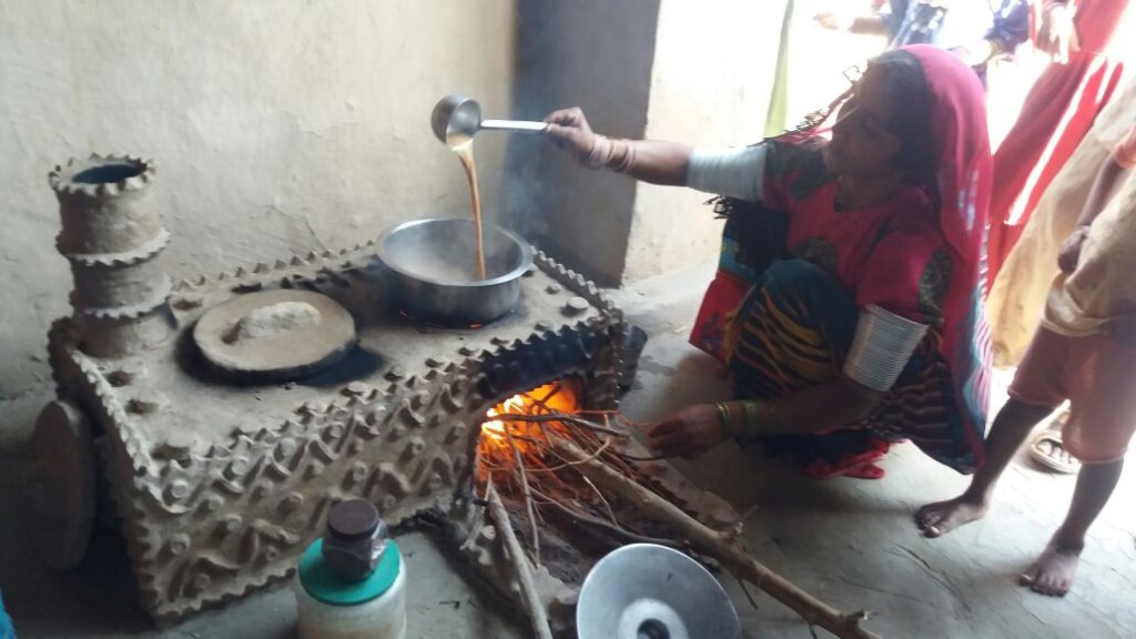 FES Cooking stove is in use by rural women