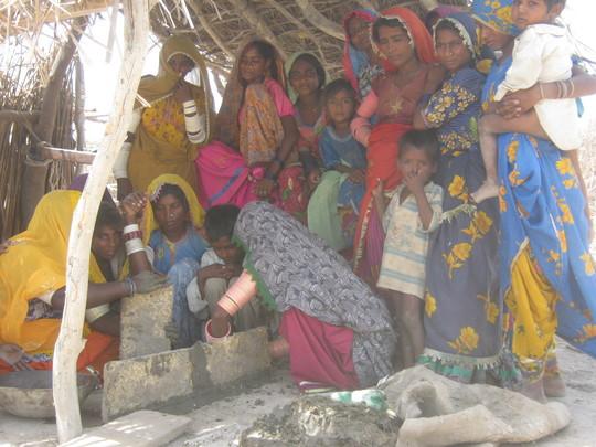 women busy in training