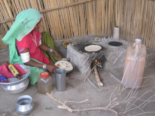 Newly constructed cooking stove