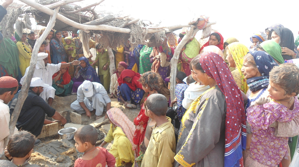Women & Children along with male learned FES stove