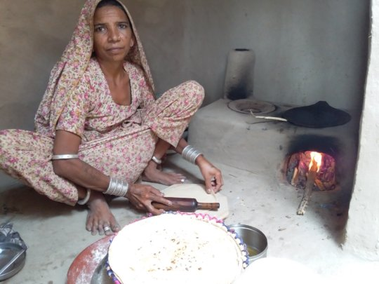 Women happy to use AHD Model Cooking stove