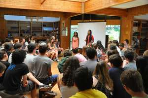Two of our Participants speaking at US summer camp
