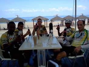 Our outstanding cyclists enjoying a break
