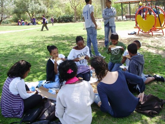 Maof participants at a group activity