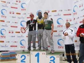 Negus winning 1st place in the Modi'in Region Race