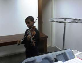 Abraham - a talented primary school violinist