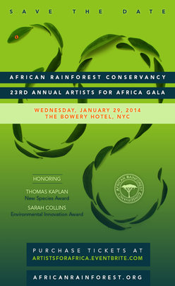 Artists for Africa fundraiser Invitation