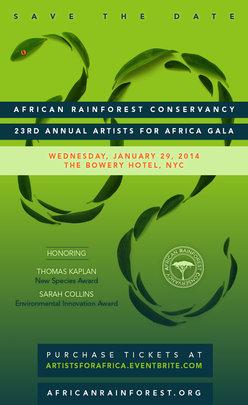 Artists for Africa fundraiser Invitation