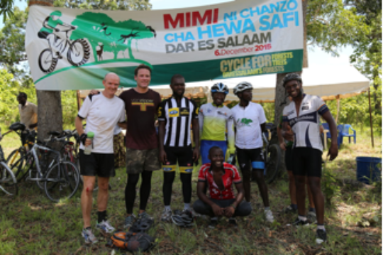 Cycling event Ruvu South Forest Reserve Dec 2015