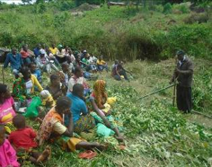 Training communities on conservation agriculture