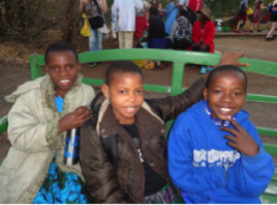 Students at Zamiba Festival of Action