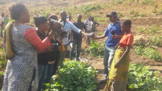 Small scale farmers met with journalists in Kilosa