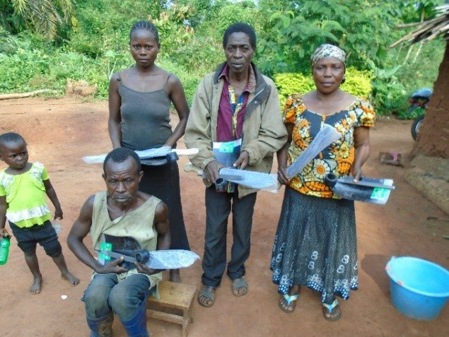 Distribution of farming tools in Biakato