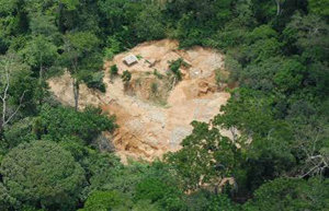 Illegal Gold Mine on the Reserve