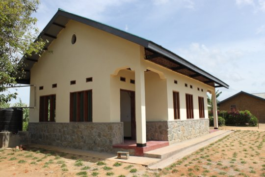 The completed office and storeroom in Mambasa