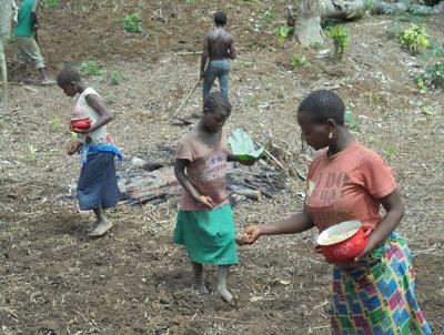 Sowing Rice in Ekulungu