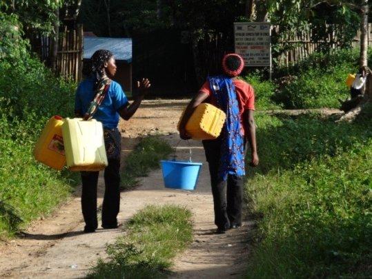 Women Walking to Fetch Water