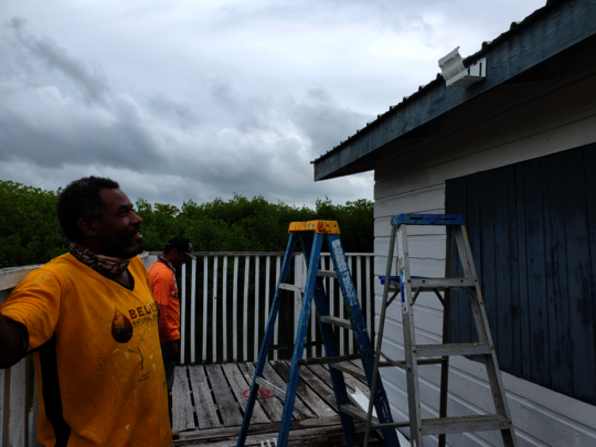 Installing gutters for rainwater collection