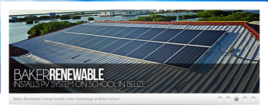 Baker Renewable Energy banner page: SUCCESS!