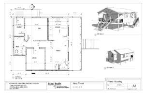 Floorplan: Home for visiting volunteer specialists (PDF)